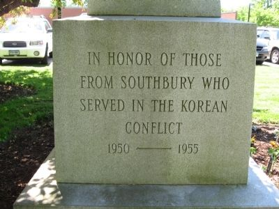 Southbury Veterans Memorial (east face) image. Click for full size.