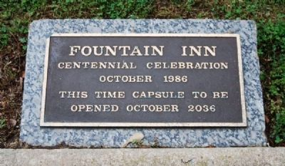 Fountain Inn Time Capsule -<br>Located to the Left of the Monument image. Click for full size.