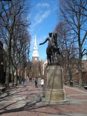 Entrance to Paul Revere Mall image. Click for full size.