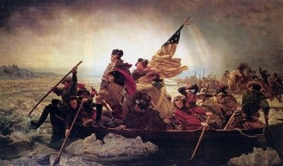 Washington Crossing the Delaware Marker image. Click for full size.