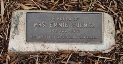 Mrs. Emmie Fulmer Marker image. Click for full size.