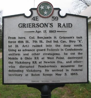 Grierson's Raid Marker image. Click for full size.