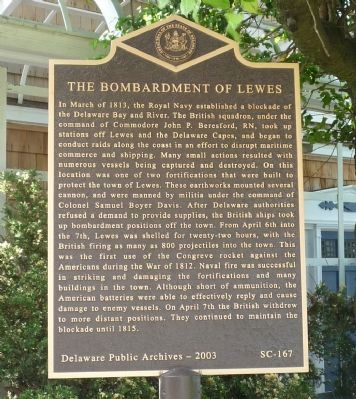 The Bombardment of Lewes Marker image. Click for full size.