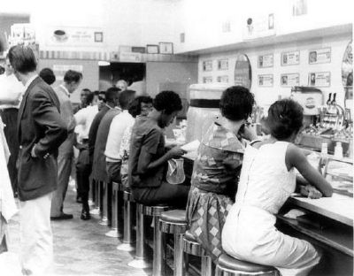 Students Demonstrating at a Downtown<br>Greenville Lunch Counter image. Click for full size.