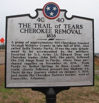 The Trail of Tears Marker image. Click for full size.