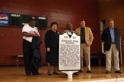 Unveiling of the Sterling High School Marker image. Click for full size.