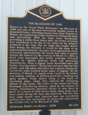The Blizzard of 1888 Marker image. Click for full size.