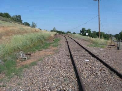 Railroad Tracks of the Placerville and Sacramento Valley Railroad - Latrobe image. Click for full size.