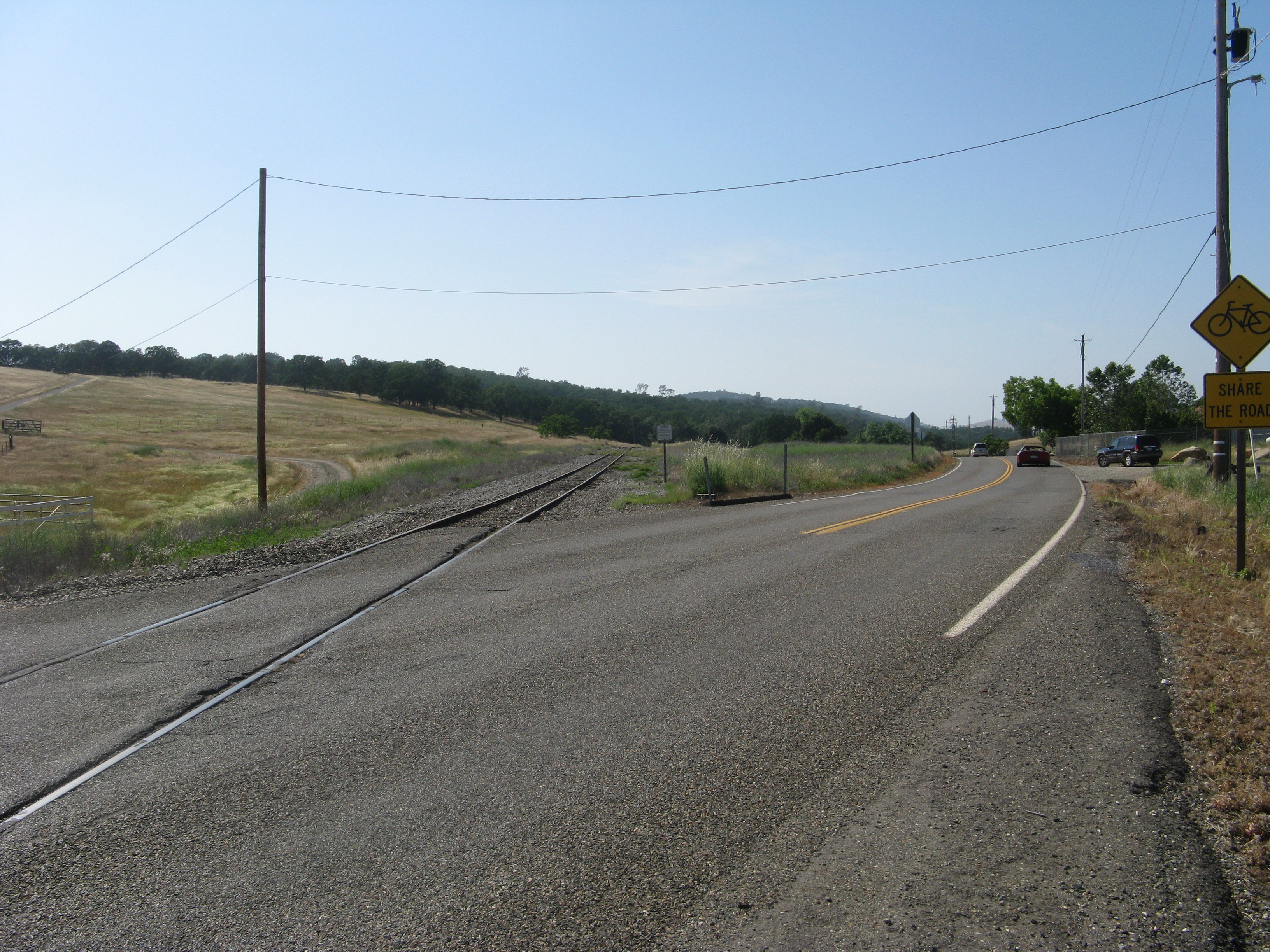 Railroad Tracks of the Placerville and Sacramento Valley Railroad - Latrobe