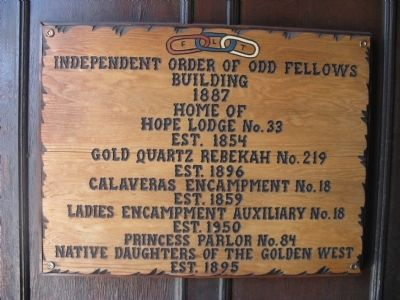 Independent Order of Odd Fellows Building Marker image. Click for full size.
