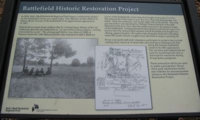 Battlefield Historic Restoration Project Marker image. Click for full size.