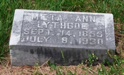 Meta Ann Lythgoe&#39;s<br>First Child of Augustus Lythgoe<br>Long Cane Cemetery, Abbeville, SC image. Click for full size.