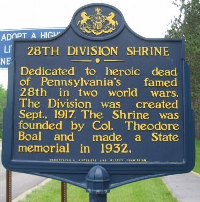 28th Division Shrine Marker image. Click for full size.