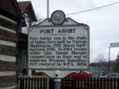 Fort Ashby Marker image. Click for full size.