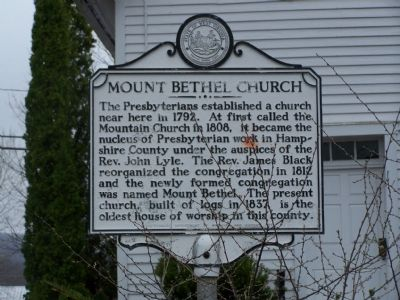 Mount Bethel Church Marker image. Click for full size.