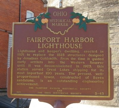 Fairport Harbor Lighthouse Marker image. Click for full size.
