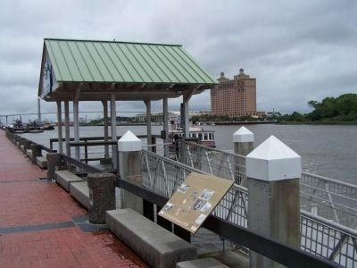 King Cotton Marker as Seen along the Savannah River ( Riverwalk,) image. Click for full size.