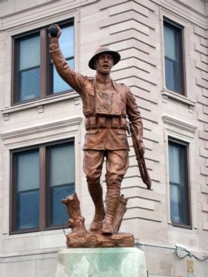 Front - - Owen County (Indiana) War Memorial Statue image. Click for full size.