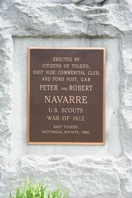 Peter and Robert Navarre Marker image. Click for full size.