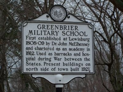 Greenbrier Military School Marker image. Click for full size.