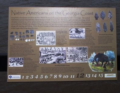 Native Americans on the Georgia Coast Marker image. Click for full size.
