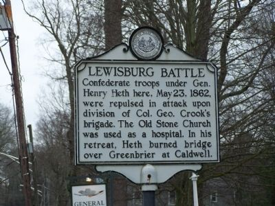 Lewisburg Battle Marker image. Click for full size.