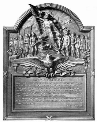 """ The American's Creed "" - William Tyler Page image. Click for full size."