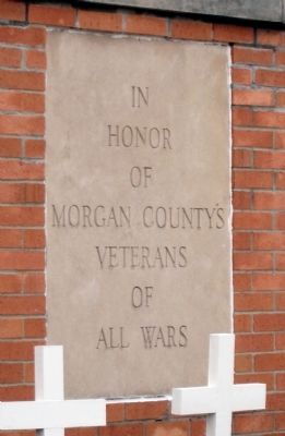 Morgan County (Indiana) - Veterans Marker image. Click for full size.