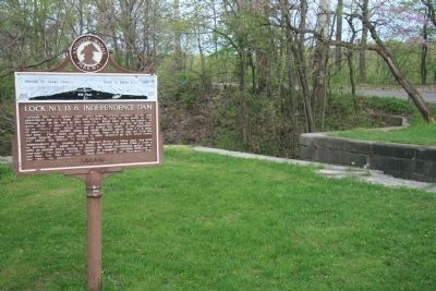Lock No. 13 & Independence Dam Marker image. Click for full size.