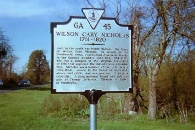 Wilson Cary Nicholas Marker image. Click for full size.