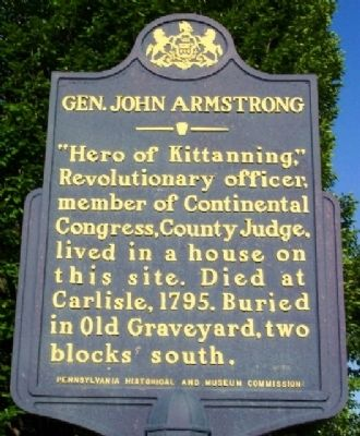 Gen. John Armstrong Marker image. Click for full size.
