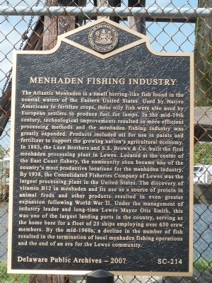 Menhaden Fishing Industry Marker image. Click for full size.