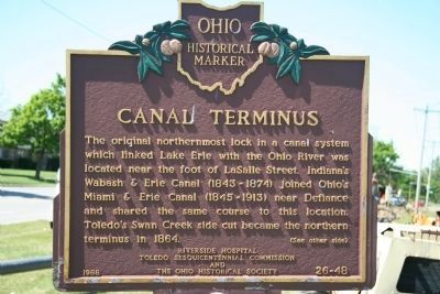 Canal Terminus Marker image. Click for full size.