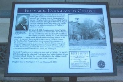 Frederick Douglass in Carlisle Marker image. Click for full size.
