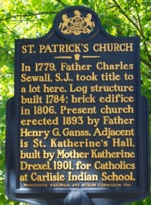 St. Patrick's Church Marker image. Click for full size.