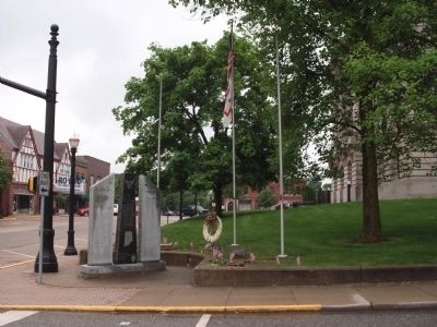 Long Back View - - Hendricks County War Memorial image. Click for full size.