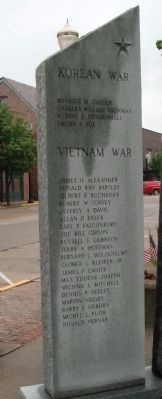 Back Left Panel - - Hendricks County War Memorial image. Click for full size.