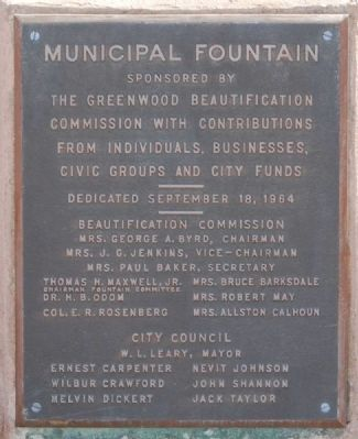 Municipal Fountain Marker image. Click for full size.