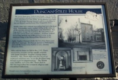Duncan-Stiles House Marker image. Click for full size.
