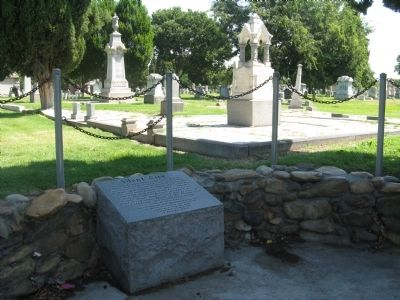 Silent City Marker and Modesto Pioneer Cemetery image. Click for full size.