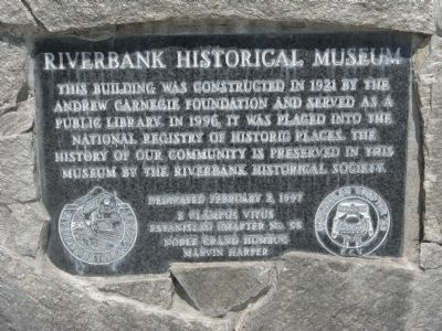 Riverbank Historical Museum Marker image. Click for full size.