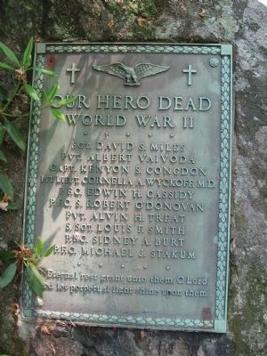 Our Hero Dead World War II Marker image. Click for full size.