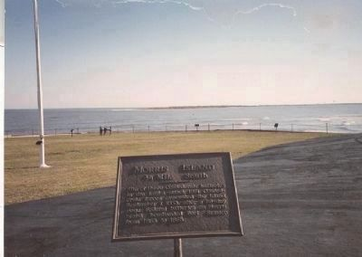 Morris Island Marker, Fort Sumter National Monument image. Click for full size.