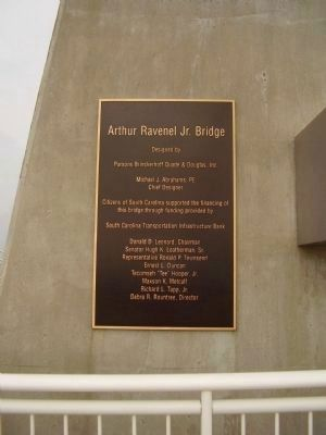 Arthur Ravenel Jr. Bridge Marker image. Click for full size.