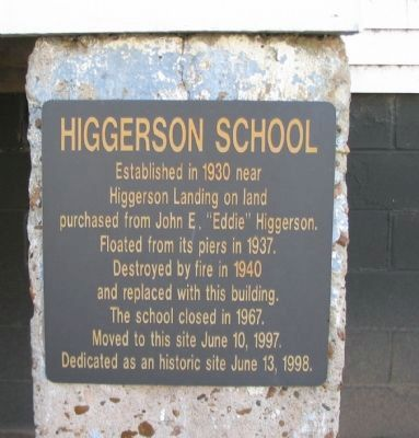 Higgerson School Marker image. Click for full size.