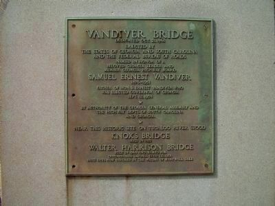 Vandiver Bridge Marker image. Click for full size.