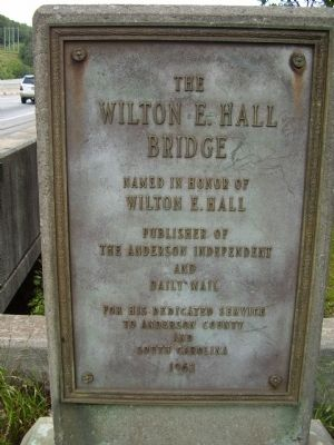 The Wilton E. Hall Bridge Marker image. Click for full size.
