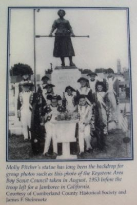 Molly Pitcher Photograph on Old Graveyard Marker image. Click for full size.