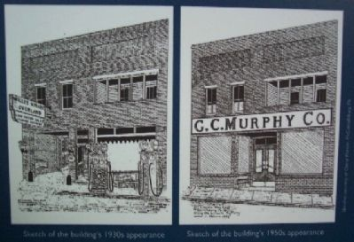 Changing Main Street Marker Drawings image. Click for full size.