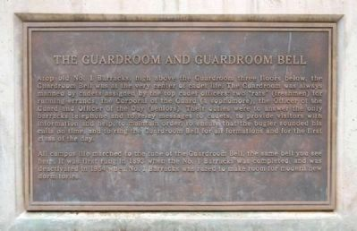 Guardroom and Guardroom Bell Marker -<br>Located on the West Base of the Guardroom Bell Structure image. Click for full size.